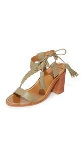 Zimmermann Scallop Tie Heel Sandals