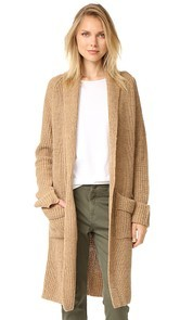 Otto dame Shawl Collar Long Cardigan