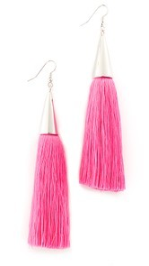 Eddie Borgo Silk Tassel Earrings