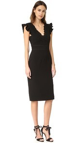 Rebecca Taylor Sleeveless Lace Trim Dress