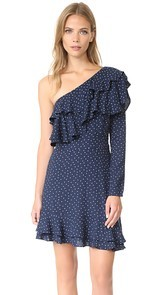 WAYF Laci One Shoulder Ruffle Tiered Dress