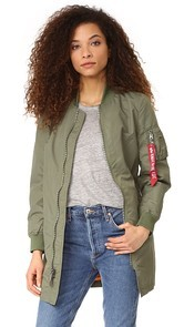 Alpha Industries Long Bomber Jacket