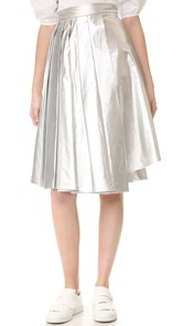 A.W.A.K.E. Pleated Asymmetrical Skirt Awake
