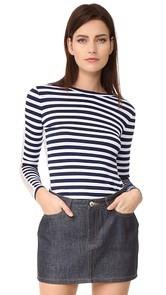 Natasha Zinko Striped Long Sleeve Top