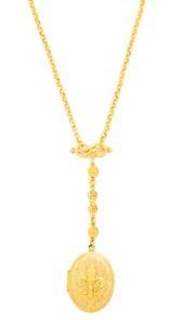 Ben-Amun Gold Locket Necklace