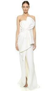 J. Mendel Draped Bustier Gown