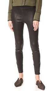 LAGENCE Bijoux Leather Leggings