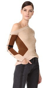 Yigal Azrouel One Shoulder Sweater