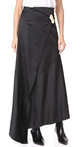 A.W.A.K.E. Asymmetric Wrap Skirt Awake