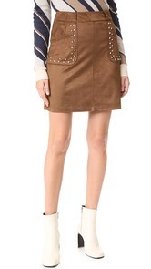 BB Dakota Cain Faux Suede Skirt