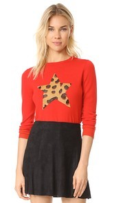 Bella Freud Iggy Leopard Star Sweater