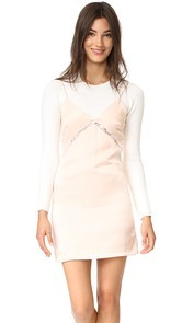 endless rose Slip Dress With Crop Sweater
