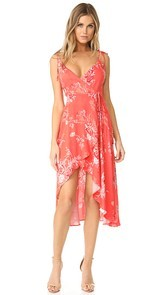 MINKPINK Hotsprings Waterfall Wrap Dress