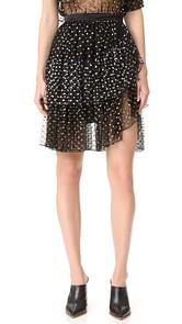 Rodarte Metallic Dot Wrap Skirt