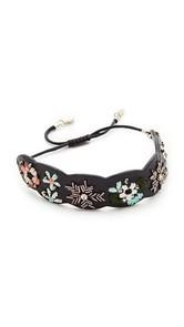 Rebecca Minkoff Floral Embroidery Guitar Strap Bracelet