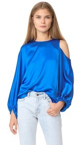 Tibi Celestia One Shoulder Top