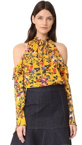 Tanya Taylor Floral Adrienne Top