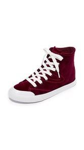 Tretorn Marley Velvet High Top Sneakers
