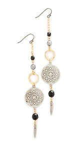 Ben-Amun Circle Drop Fishook Earrings