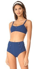 Lisa Marie Fernandez Genevieve Button High Waist Bikini