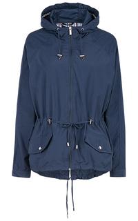 Женская синяя куртка с поясом Neohit