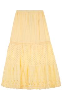 юбка макси с перфорацией La Reine Blanche