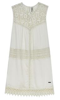 платье с ажурными вставками Pepe Jeans London