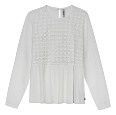блузка с ажурной вставкой Pepe Jeans London