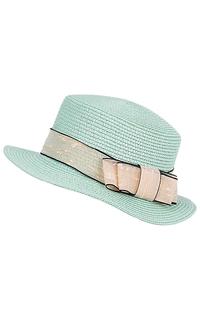 Мятная соломенная шляпа Sophie Ramage