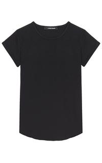 женская черная футболка La Reine Blanche