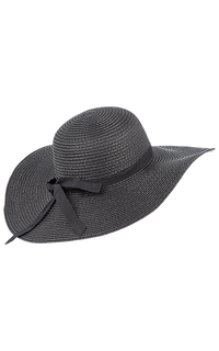 Черная соломенная шляпа Sophie Ramage