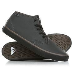 Кеды кроссовки высокие Quiksilver Shorebreakpmmid Grey/Black