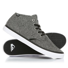 Кеды кроссовки высокие Quiksilver Shorebreak Mid Grey/Black/White