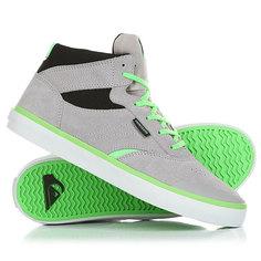 Кеды кроссовки высокие детские Quiksilver Burc Mid Grey/Green