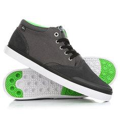 Кеды кроссовки высокие Quiksilver Verant Mid Grey/White/Green