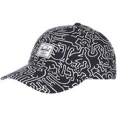 Бейсболка классическая Herschel Sylas Peacoat Keith Haring