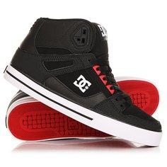 Кеды кроссовки высокие DC Spartan High Wc Black/Red/Black