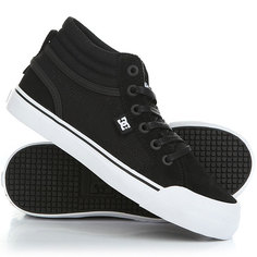 Кеды кроссовки высокие детские DC Evan Hi Shoe Black/White