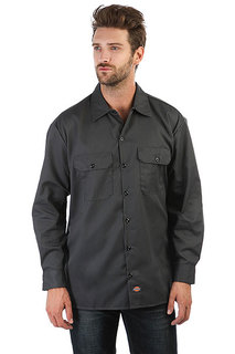 Рубашка Dickies Long Sleeve Work Shirt Charcoal Grey