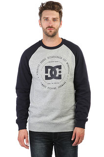 Толстовка свитшот DC Rebuilt Crew Grey Heather