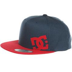 Бейсболка с прямым козырьком DC Heard Ya Hats Dark Indigo