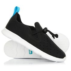 Ботинки низкие детские Native Apollo Moc Child Jiffy Black/Shell White