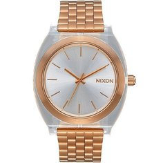Кварцевые часы женские Nixon Time Teller Acetate True Gold/Clear