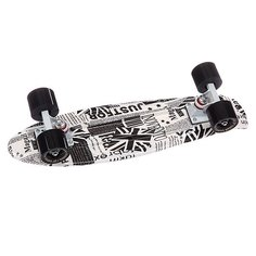 Скейт мини круизер Turbo-FB English Paper White/White/Black 22 (56 см)