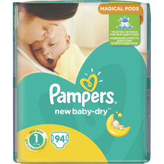 Подгузники Pampers New Baby-Dry Newborn 2-5 кг, 94 шт