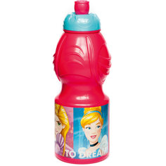Бутылка пластиковая 400 мл., Принцессы Disney Stor