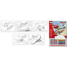 Набор для рисования Disney Самолеты  с мелками и карандашами Limpopo