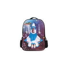 """Рюкзак """"Самолет"""", цвет черный с синим 3D Bags"""