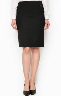 Классическая черная юбка прямого кроя Cinque