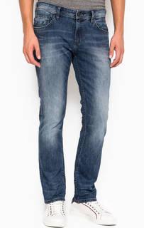 Синие зауженные джинсы с низкой посадкой Tom Tailor Denim